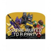 8 stk Inbjudningskort - Lego Batman