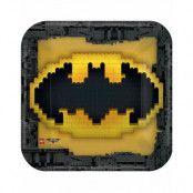 8 stk Små Fyrkantiga Papptallrikar 23x23 cm - Lego Batman