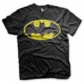 Batman Distressed Logo T-Shirt, T-Shirt