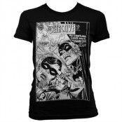 Batman - Dynamic Duo Distressed Girly T-Shirt, T-Shirt