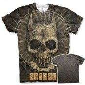 Batman Gothic Skull Allover T-Shirt, Modern Fit Polyester Tee