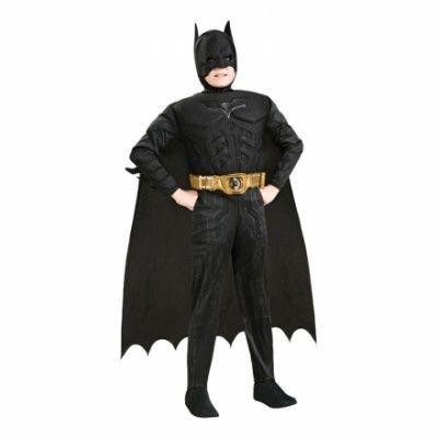 Batman Dark Knight med Muskler Barn Maskeraddräkt - Small