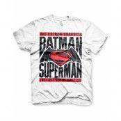 Batman VS Superman - Vit Unisex T-shirt