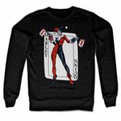 Harley Quinn Card Games Sweatshirt, Sweatshirt