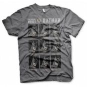 The Many Moods Of Batman T-Shirt, Basic Tee