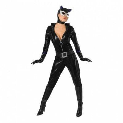 Sexig Catwoman Maskeraddräkt