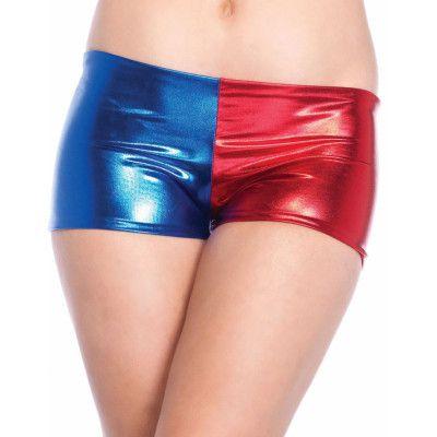 Harley Quinn Inspirerade Tvåfärgade Hotpants