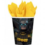 8 stk Pappmuggar 266 ml - Lego Batman