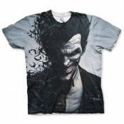Arkham Origins Joker Allover T-Shirt, Modern Fit Polyester Tee
