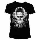 Joker - Damaged Girly Tee, Girly Tee