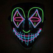 EL Wire Joker LED Mask - One size