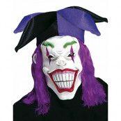 Flinande Hovnarr - Mask m/Lila hår och Hatt