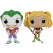 POP! Vinyl DC Comics - Beach Joker & Harley 2-Pack