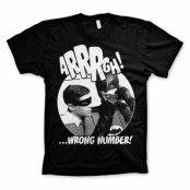 Batman Arrrgh - Wrong Number T-Shirt Svart