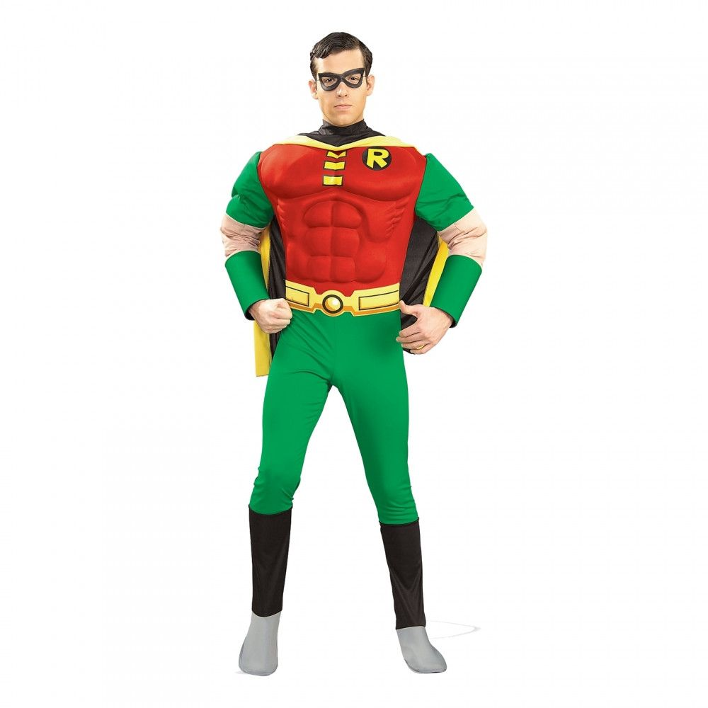 9e0e9a977e68 Robin med Muskler Maskeraddräkt - Small - Batmanbutiken